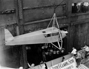 Corrigan's plane arriving in New York via ship