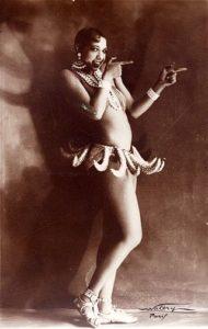 Josephine Baker in her famous banana costume