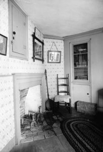 The bedroom on the first floor.