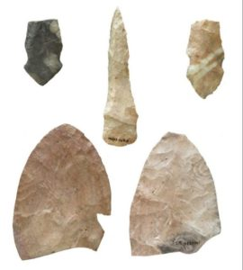 Protohistoric Wichita stone knives were recovered from the site by the Kansas State Historical Society.