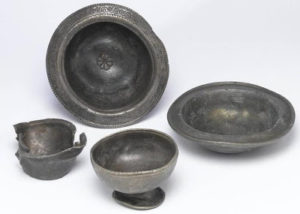 These 4th Century pewter bowls and cups are examples of fine tableware and were thrown into a timber-lined well as part of a ritual offering, along with some cow skulls. Once experts have managed to record all the finds, they will form part of a public exhibition in the new building.