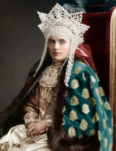 Baroness Emma Freedericksz. Colorization by Olga Shirnina