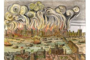 Painting depicting the Great Fire.