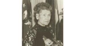 Mary Babnik Brown being honored in 1990