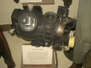 A surviving Norden bombsight.