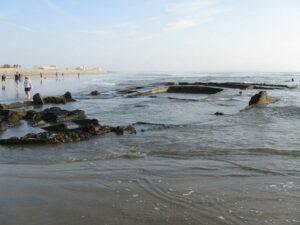 Photos taken at low-tide on 1/30/2010 of the wreck of the SS Monte Carlo near Coronado Shores, Coronado, California.