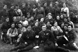 Group portrait of the Night Witches.