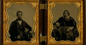 Albro and Mary Joseph Lyons, prominent residents of Seneca Village.