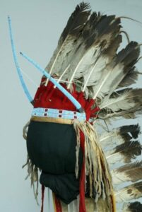 Detail of Plains headdress.