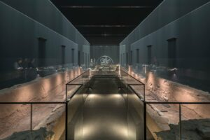 London Mithraeum is housed in Bloomberg's European headquarters, designed by Norman Foster.