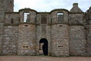 The entrances of each castle were some of the most heavily guarded points. This is the entrance of Tolquhon Castle in Scotland.