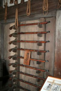 Weapon racks inside the keep Photo by Corpse Reviver CC BY 3.0