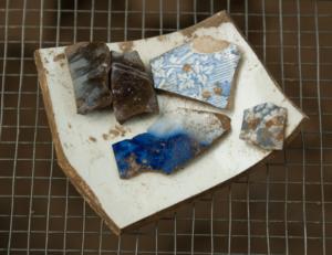 Fragments of crockery found during the Seneca Village dig.