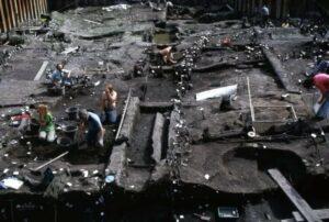 Excavatin at Jorvik Viking Center.