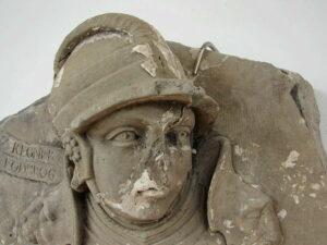 A statue of Ragnar Lothbrok.