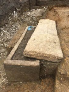 The most recent Roman sarcophagus to be discovered in London.