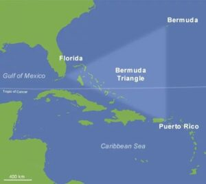 Loose map of the Bermuda Triangle