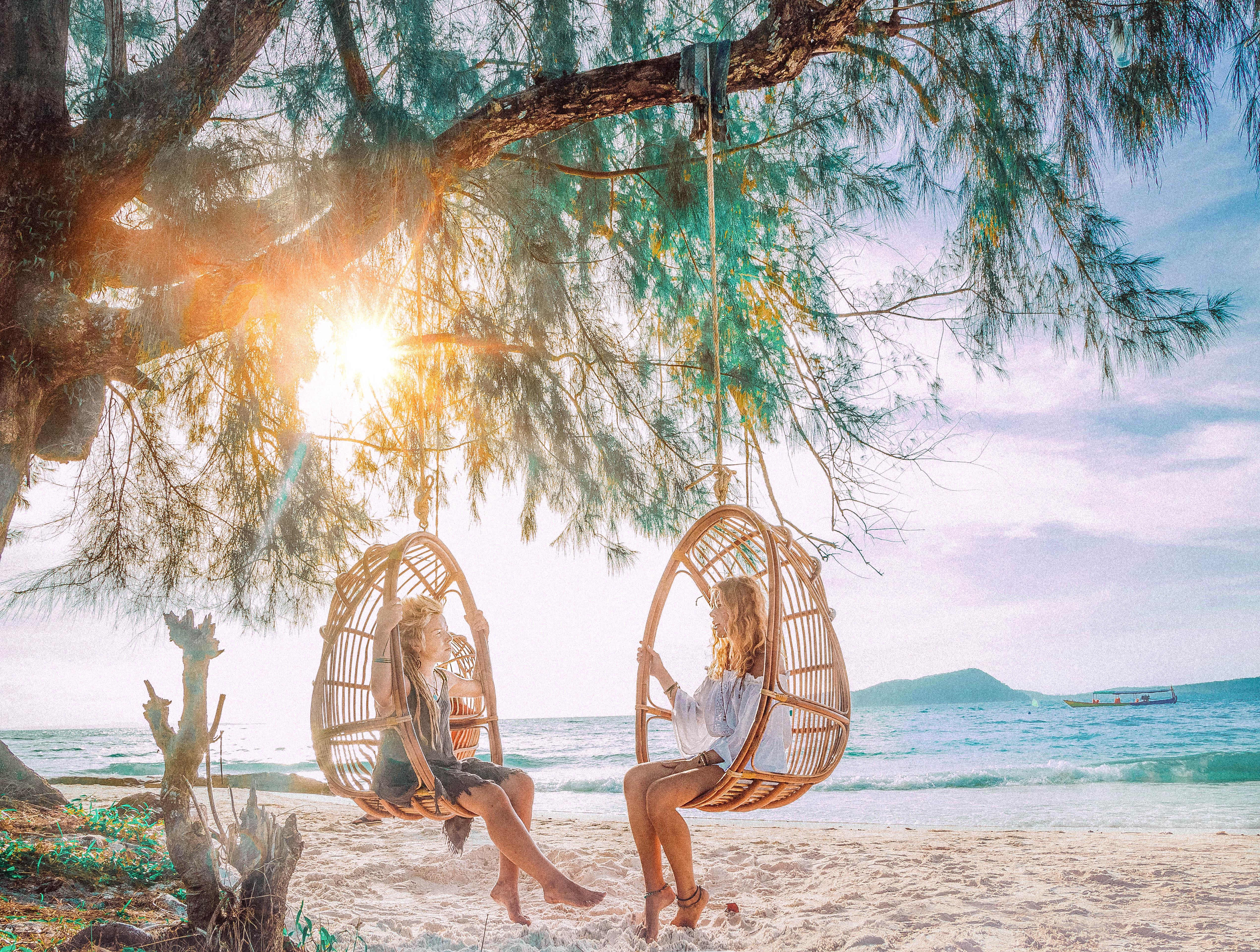 koh rong island so beautiful with sandy white beaches sunrise blue water palms hammocks