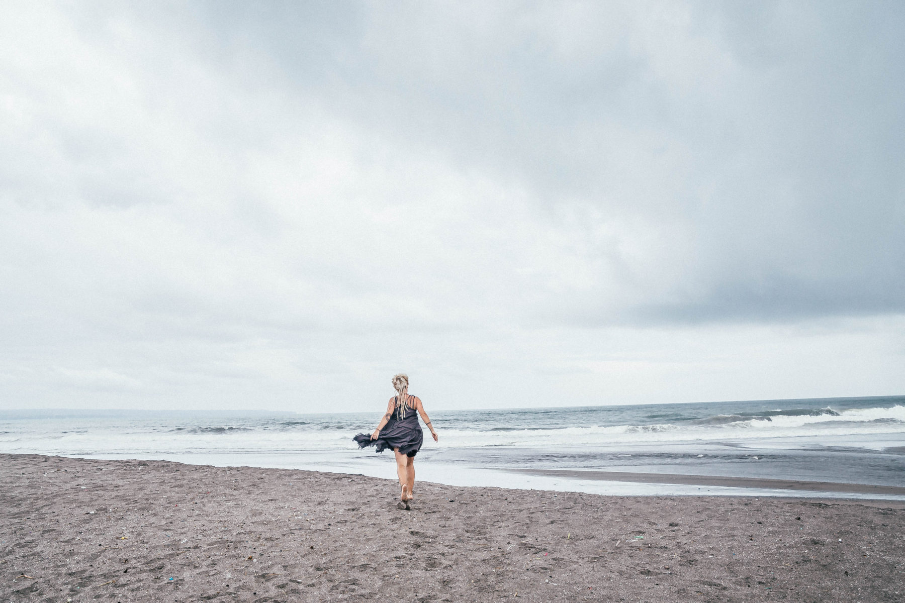 indian ocean bali beach indonesia canggu exploring the area before the storm