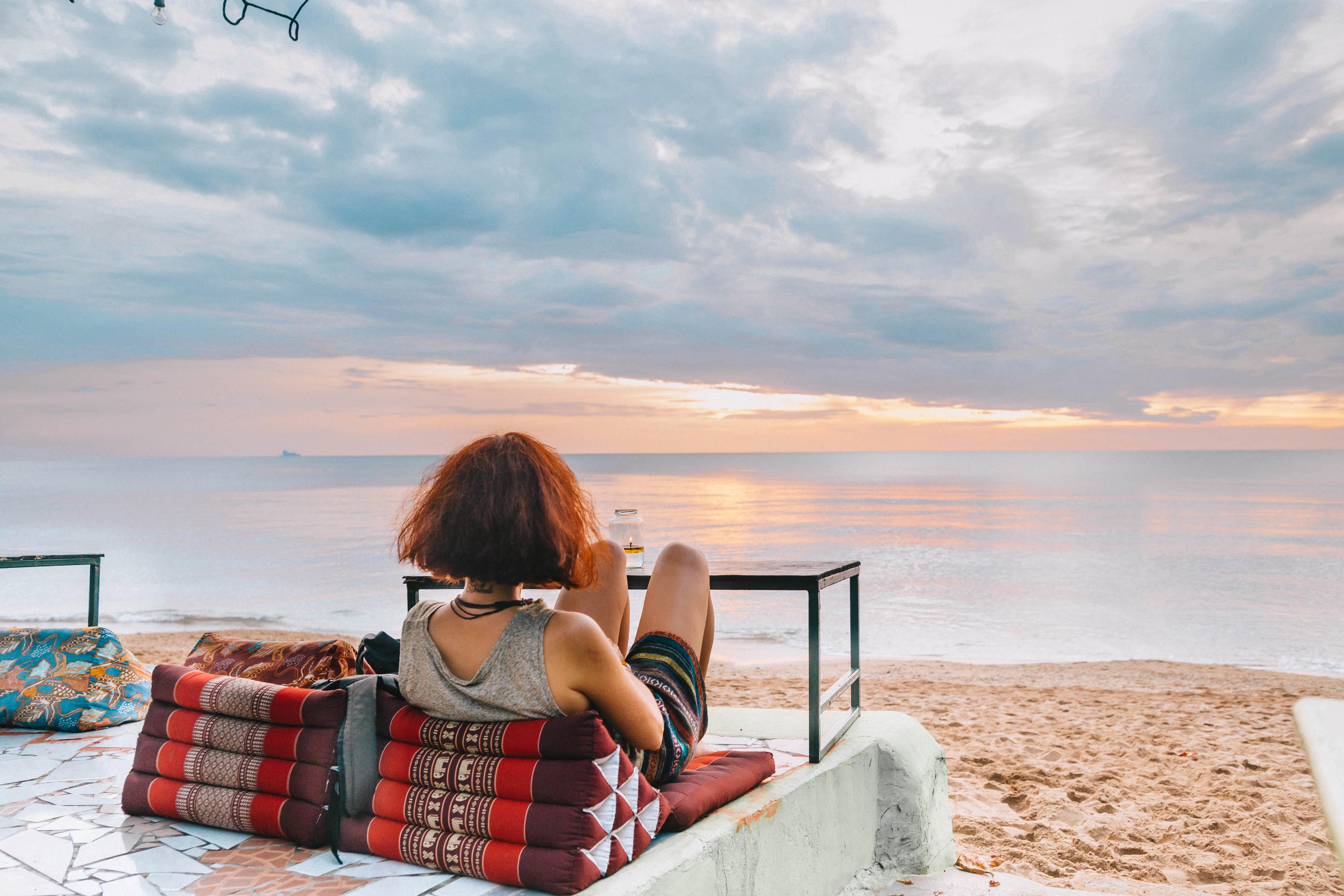 watcing magical sunset in koh lanta beach life vitamin sea
