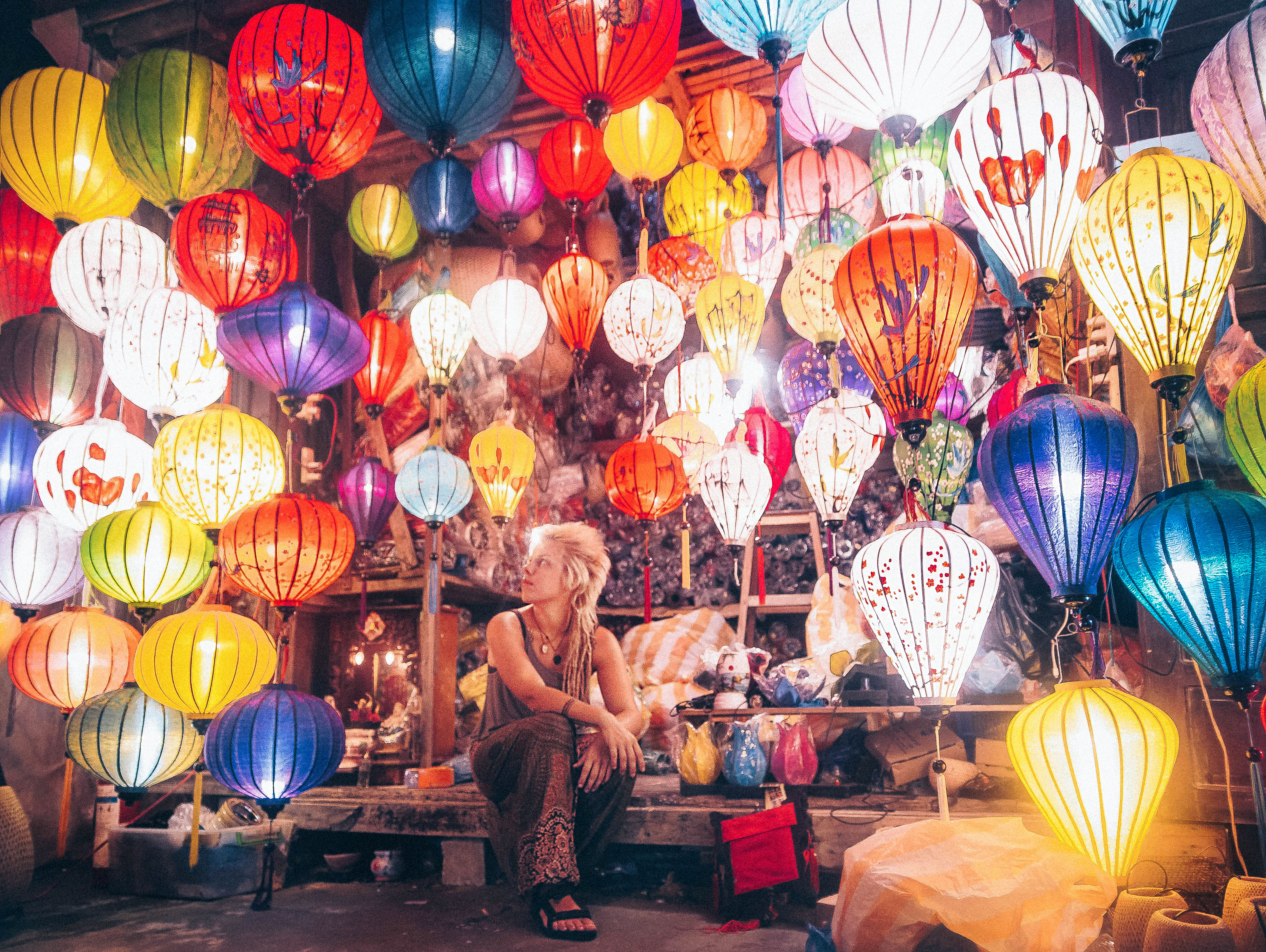 hoi an vietnam lantern city beautiful lights warm ambient atmosphere south east asia