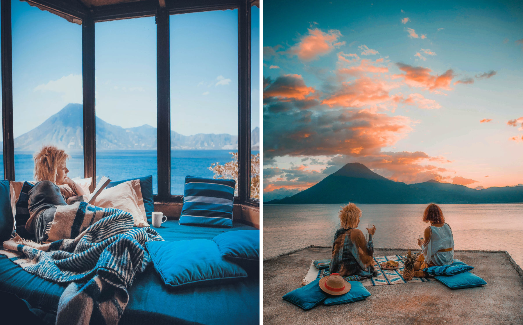 guatemala lake atitlan lago central america most beautiful lake in the world blue water sunny day