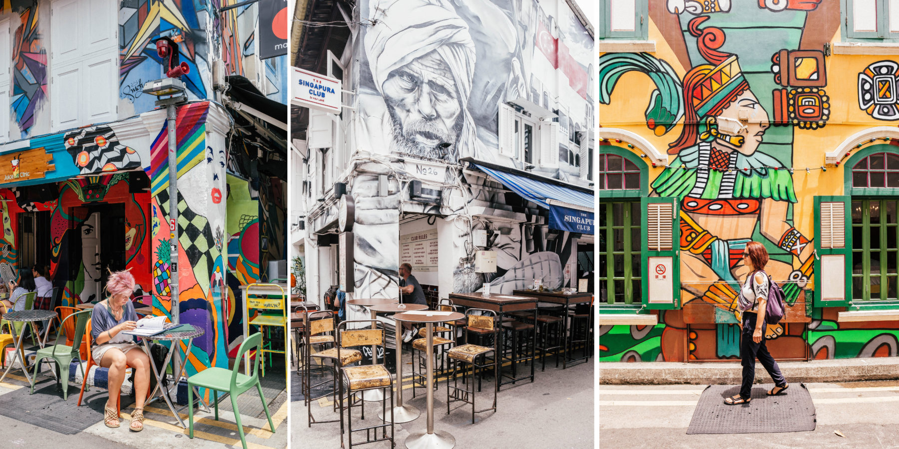 singapore coffee shops haji lane hipster caffeine exploring cafes graffiti colourful street