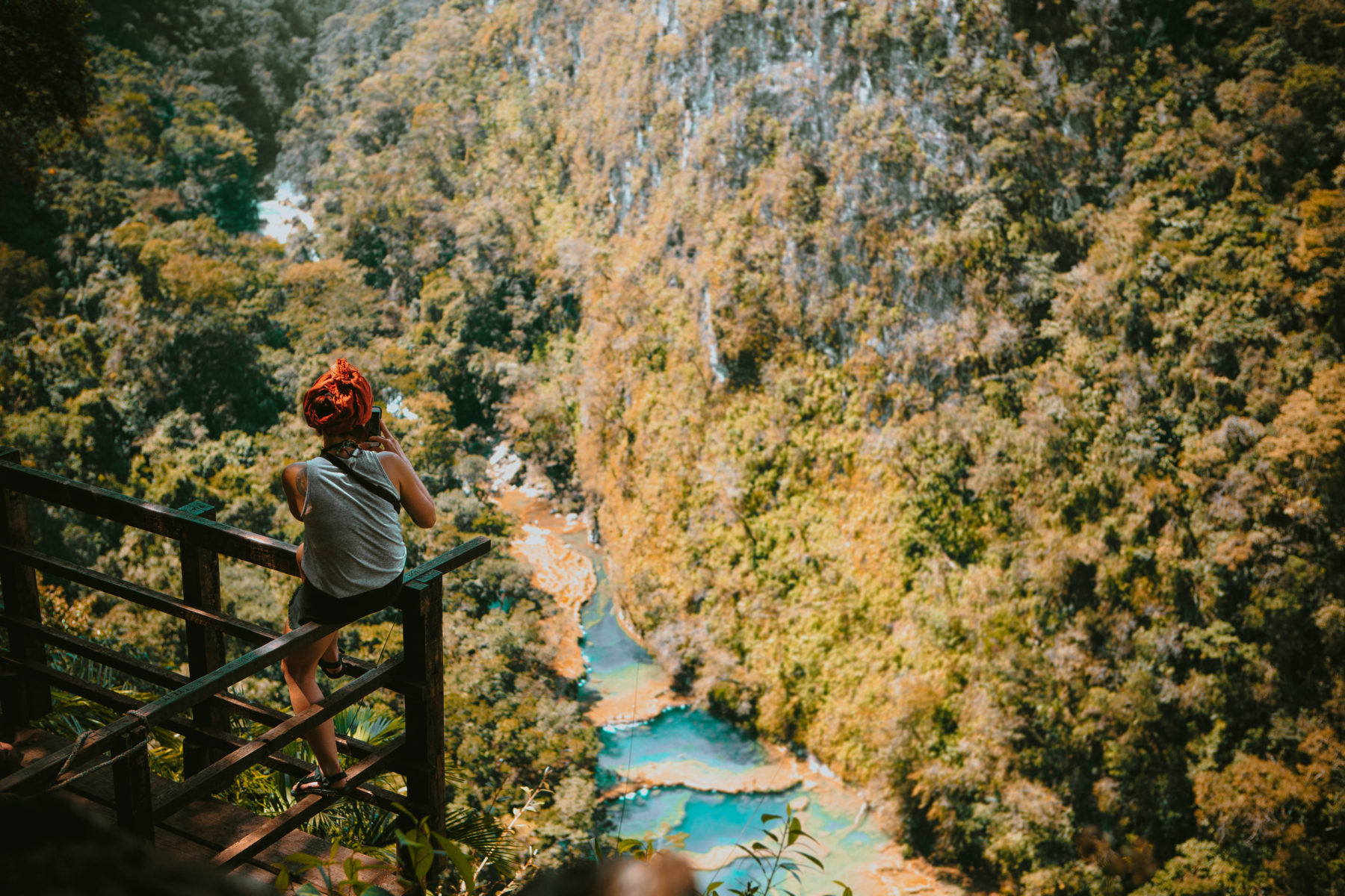 guatemala semuc champey turquoise pools jungle green humid swim adventure far away hidden paradise el retiro lodge in the jungle cacao pure natural pools
