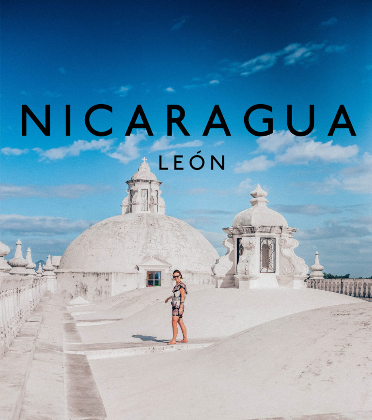 leon nicaragua old town cathedral colonial streets locals rich history colourful streets horses revolution modernity sunset rooftop bar michelada drinks friends vendors imbir polish sri lankan food craft ale restaurant recommendation cathedral Our Lady of Grace Cathedral biggest church in central america avocado dog streets