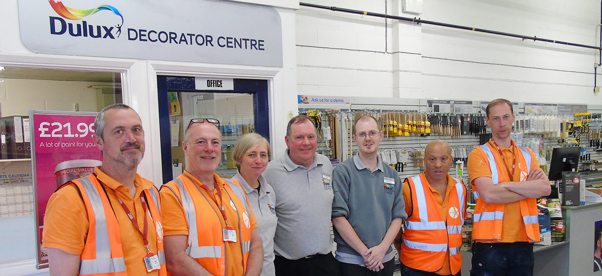 New Cohort Of BasWorx Trainees Visit The Dulux Decorating Centre In Basildon