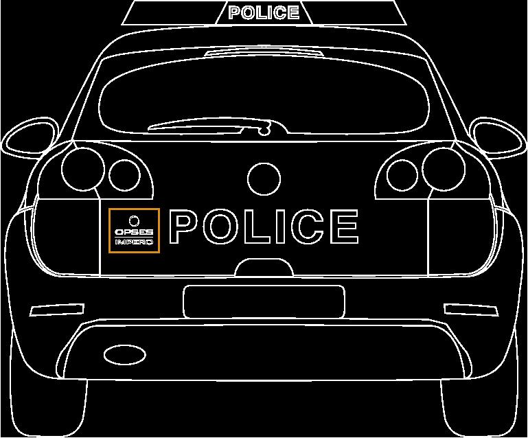 Police car outline