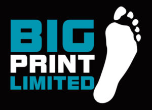 BigPrint logo on a black background - providing custom printing services