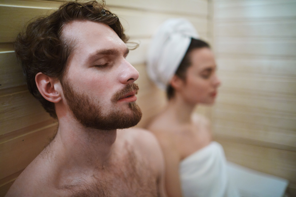 Couple sauna