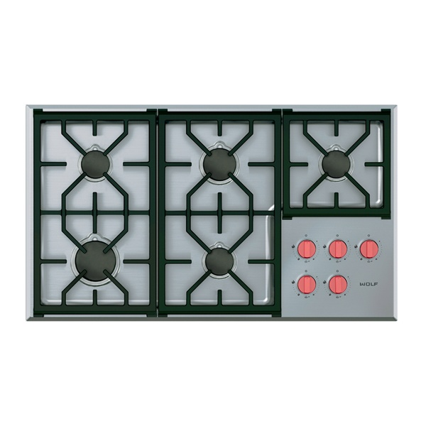 wolf - ICBCG365P_S-914MM-PROFESSIONAL-GAS-COOKTOP