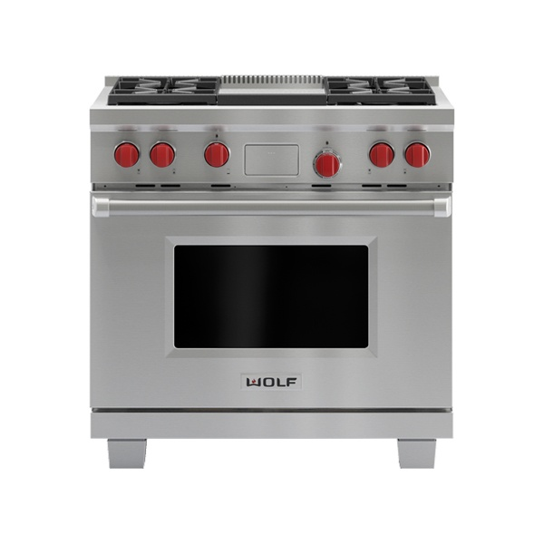 wolf ICBDF364G-914MM-DUAL-FUEL-RANGE-WITH-GRIDDLE