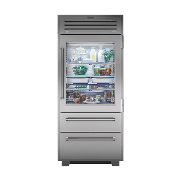 subzero - 914mm Ultimate Professional Refrigerator Freezer With Glass Door