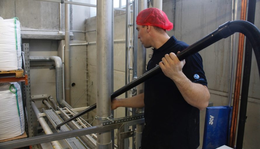 Industrial cleaning using Spacevac ATEX cleaning system