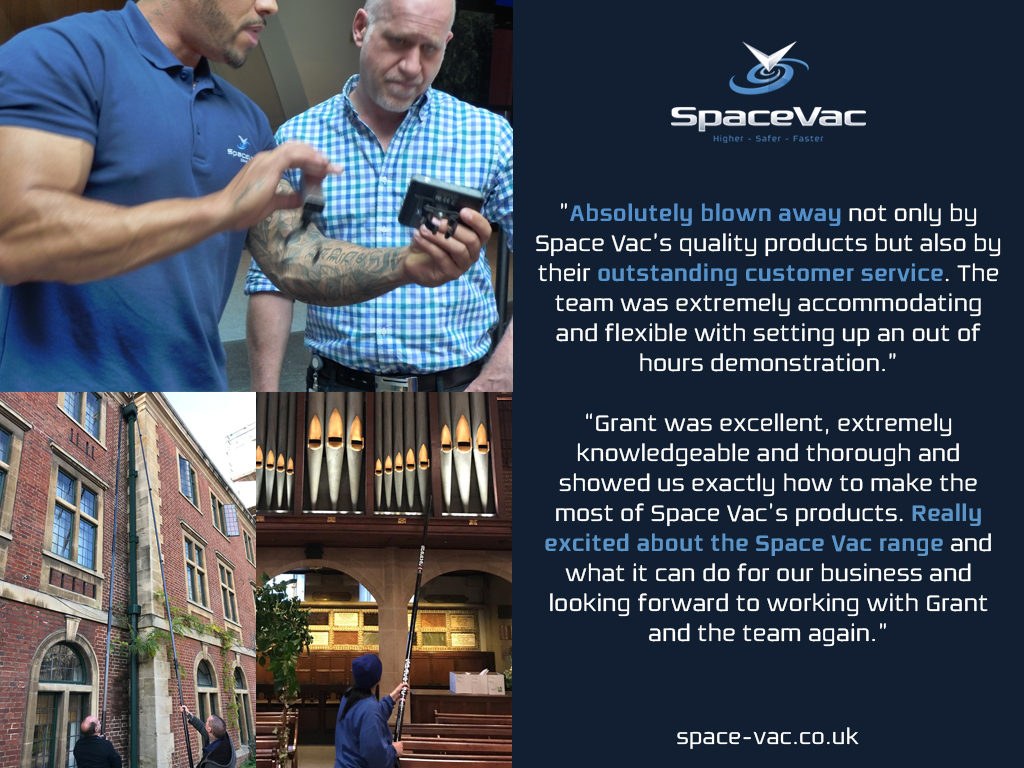 SpaceVac clients testimonials