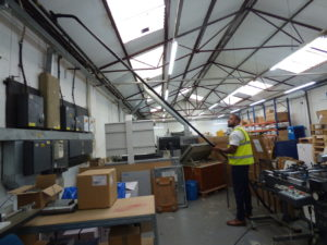 Warehouse cleaning with SpaceVac high level cleaning system - image 2