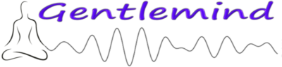 Image of the Gentlemind logo containing the word Getlemind and an image of a meditating figure with a meditative brainwave extension.