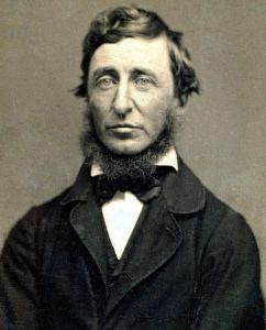 Sepia photograph of Henry David Thoreau taken be American photographer B. D. Maxham