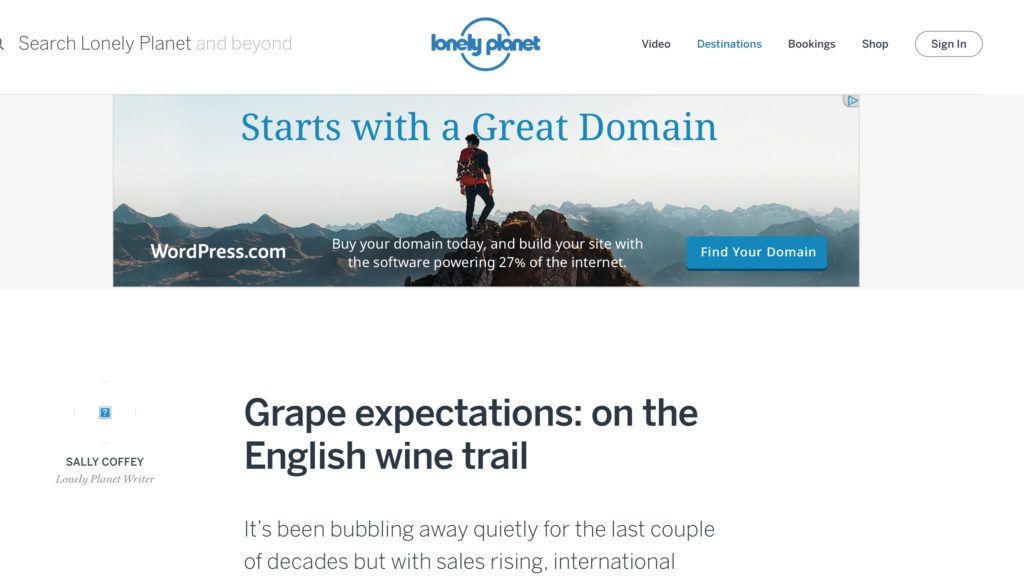 Lonely Planet English wine