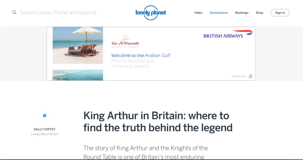 Lonely Planet King Arthur