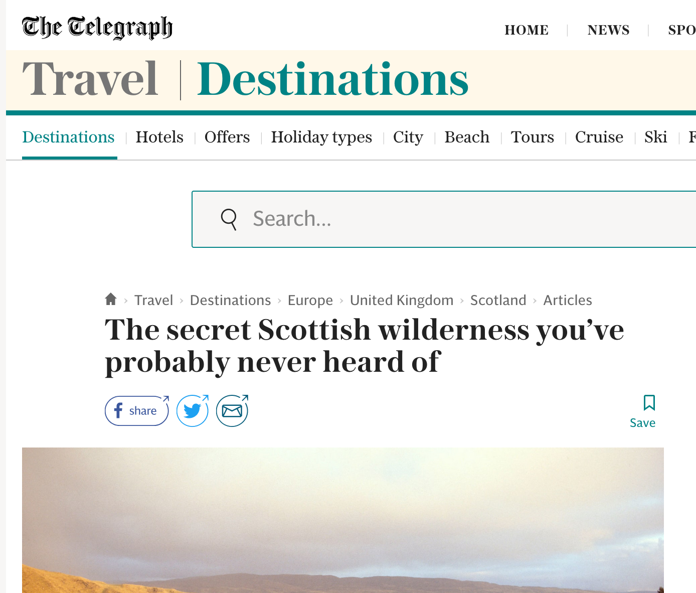 The Telegraph - Scottish wilderness you've probably never heard of