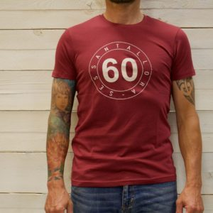 T-SHIRT UOMO BORDEAUX BOLLO OUTLINE