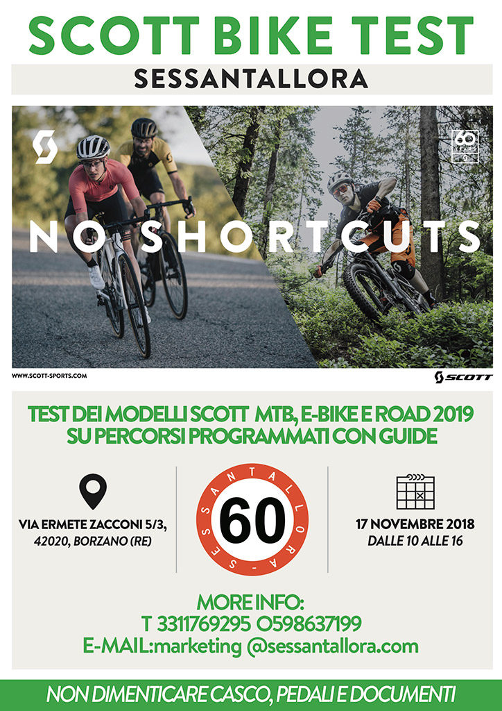 Scott Bike Test Sessantallora 2018