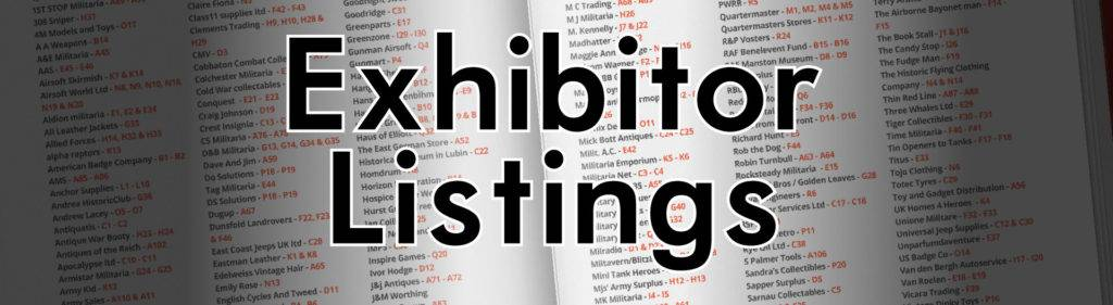 Exhibitor Listings War and Peace
