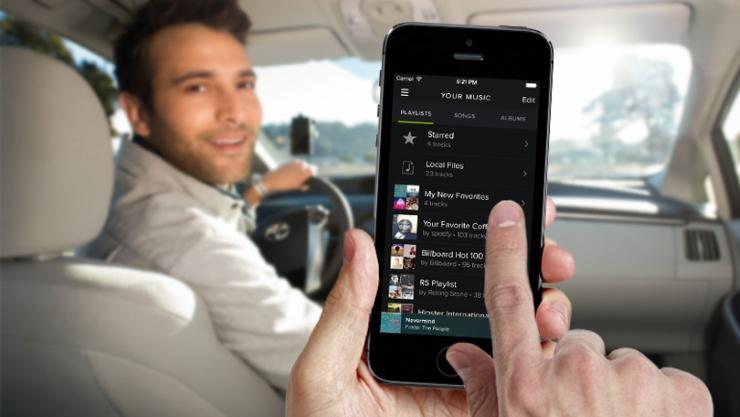 Spotify en Mirrorlink