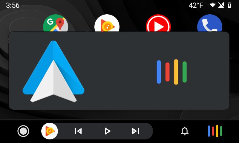 Android Auto Google Hero UI