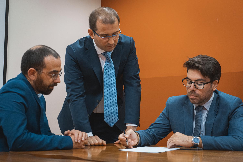 Gli avvocati Gallo e Transerici ed il Dott. Paccosi nello studio GRDLex di Roma